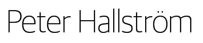 Peter Hallström Logotyp